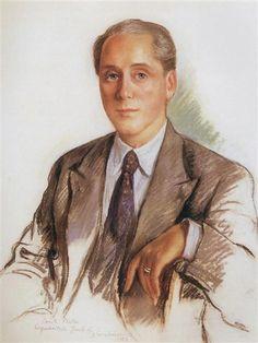 Zinaida Serebriakova A Portrait of Graf Platon Zubov 1956