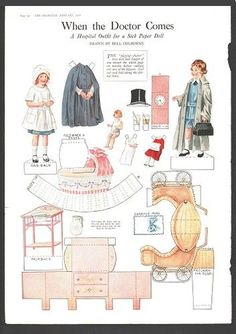When The Doctor Comes A Hospital Outfit for A Sick Paper Doll ...
