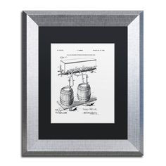 Claire Doherty 'Art Of Brewing Beer Patent White' Black Matte, Framed Wall Art