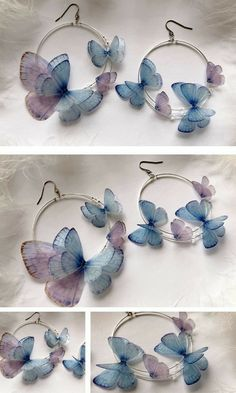 Ear Jewelry, Cute Jewelry, Jewelry Crafts, Jewelery, Jewelry Accessories, Jewelry Making, Unique Jewelry, Cute Earrings, Bridal Earrings
