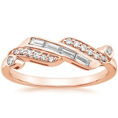 really like this... 14K Rose Gold Orianthe Diamond Ring (1/3 CT. TW.) from Brilliant Earth 1250