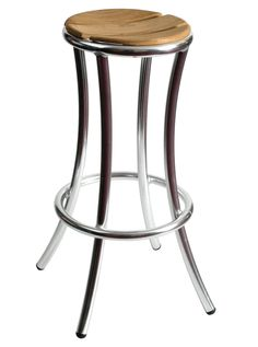 The Aluminum Frame And Synthetic Teak Seat Make This Outdoor Restaurant Bar  Stool A Great Choice