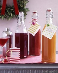Holiday drink mixers
