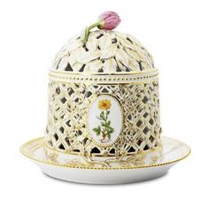 Porcelain Ice Bell and Stand Flora Danica Royal Copenhagen.....very expensive ..Danish Queen have it....so beautiful