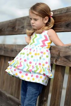 Laceys Apron Top with Reversible Option PDF Pattern size size 6-12 months to size 8 via Etsy