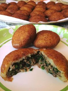 Modus operandi Kubba fried potatoes with pictures Middle East Food, Middle Eastern Recipes, Lebanese Recipes, Turkish Recipes, Persian Recipes, Arabic Recipes, Beef Recipes, Cooking Recipes, Healthy Recipes