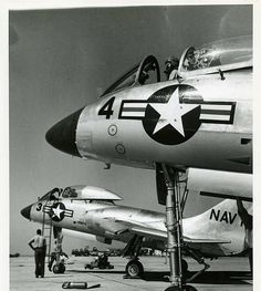 /via Kemon01 #flickr #plane #1950s #USN #F7U #Cutlass