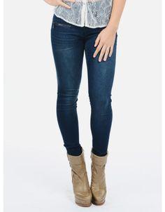 Sky High Celebrity Pink High Waist Skinny Jeans  Blue