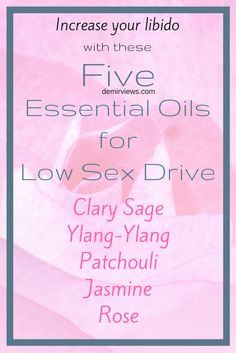 Essential Oils for low sex drives