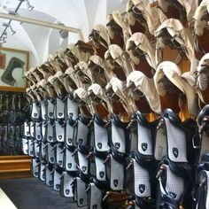 A pristine tack room at the Spanish Riding School in Vienna