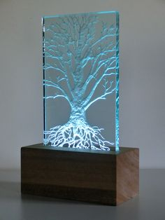 Sculpture , Lighting & Mirrors – Timothy Carter Glass Design – Glass – Home Decor Glass Painting Designs, Paint Designs, Verre Design, Glass Design, Plexiglas Led, 3d Laser Printer, Epoxy Resin Wood, Resin Furniture, Sandblasted Glass