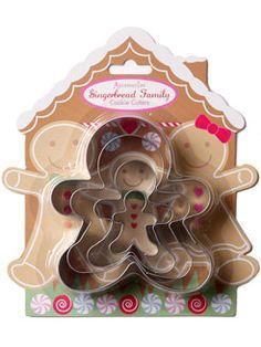 Gingerbread men cookie cutters <3