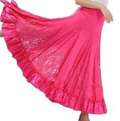 SSJ Long Swing Skirt Elegant Ballroom Dancing Latin Dance Big Race Pink >>> For more information, visit image link.