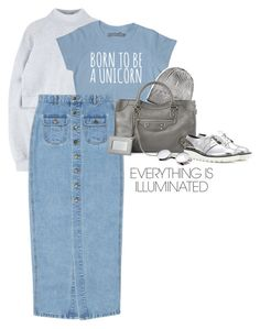 """Sem título #1272"" by marianapnogueira ❤ liked on Polyvore featuring Balenciaga, STELLA McCARTNEY, metallic and trend"