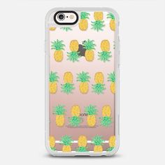 Pineapple Stripes - Transparent/Clear Background - New Standard Pastel Case