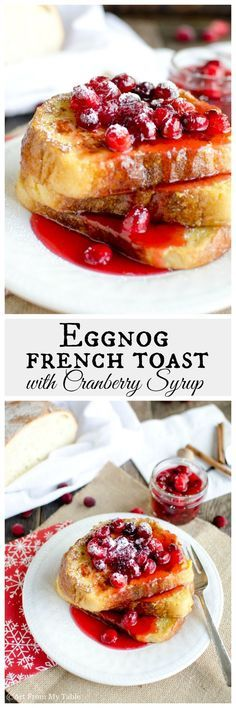 Need a festive easy Christmas morning breakfast? Delicious golden crispy on the outside soft on the inside eggnog french toast. Make this your new tradition for Christmas morning. Make ahead option.