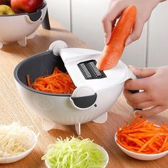 9-in-1 Multi-Functional Mandoline Vegetable Slicer Cool Kitchen Gadgets, Kitchen Tools, Kitchen Dining, Kitchen Supplies, Kitchen Ideas, How To Wash Vegetables, Veggies, Potato Peeler, Recipes