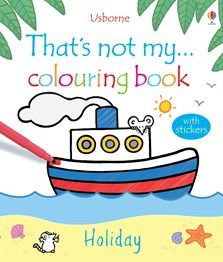 That's Not My Holiday Colouring Book by Fiona Watt Fiona Watt, Owl Kids, Black And White Illustration, Electronic Gifts, Coloring Books, Colouring, Paperback Books, Book Lists
