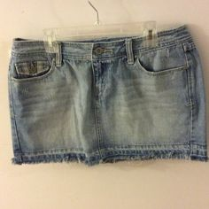 Aeropostale mini Jean skirt size 7/8 Excellent condition!  Looks very cute with leggings :-) Aeropostale Skirts Mini