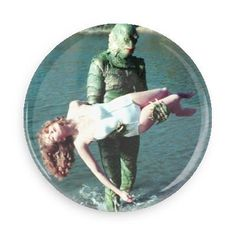 Creature From the Black Lagoon Button Black Lagoon, Jacket Patches, Creatures, Buttons, Denim Jackets, Jean Jackets, Plugs