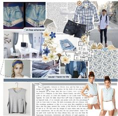 """""""Blue Teen Life~"""" by crazysteph ❤ liked on Polyvore"""