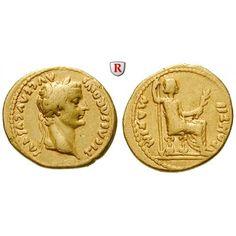 Römische Kaiserzeit, Tiberius, Aureus 14-37, ss-vz/ss: Tiberius 14-37. Aureus 20 mm 14-37 Lyon. Kopf r. mit Lorbeerkranz TI CAESAR… #coins