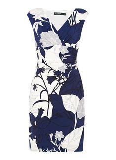 Ralph Lauren Adarita geplooide jurk met kapmouwtjes • de Bijenkorf