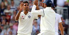 Ray of hope: India bowler Bhuvneshwar Kumar high-fives a team-mate after bowling Sam Robso. Ravindra Jadeja, Cricket Games, Sports Personality, High Five, Bowling, A Team, England, India, Wickets