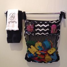 @jgraver31 - Hang the On A Stroll Bag on your towel rod in the bathroom to store bath toys, shampoo and more!