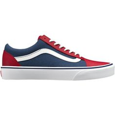 Vans Mens Customs Old Skool ($90) ❤ liked on Polyvore featuring red