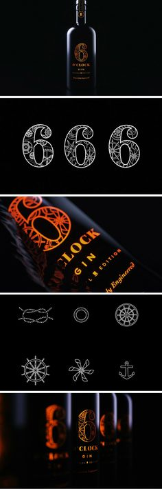 6 O'Clock Gin - Brunel Special Edition packaging by Green Chameleon