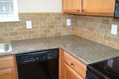 Granite Tile Kitchen Countertops for Modern Room — Decor Studios Best Tiles For Kitchen, Kitchen Counter Tile, Apple Kitchen Decor, Granite Kitchen, Kitchen Flooring, Kitchen Countertops, Kitchen Furniture, Tile Flooring, Brown Granite Countertops