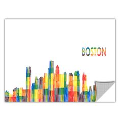 ArtApeelz 'Boston' by Revolver Ocelot Graphic Art on Wrapped Canvas
