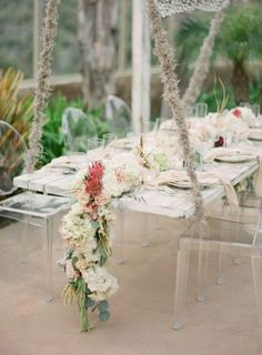 Wedding reception centerpiece idea;  Featured Photographer: Jose Villa