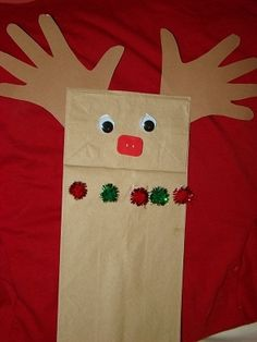 Preschool Crafts for Kids*: Paper Bag Reindeer Puppet Christmas Craft. This can be done with any age group. SE.3.40 See a simple task through to  completion.  SE.6.26 Stay with an adult-directed activity or  story for 10-15 minutes.