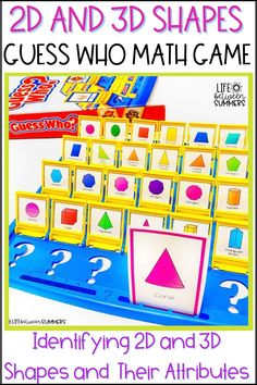 This Guess Who math game creates high levels of student engagement and rigor while helping kids develop math vocabulary and a deeper understanding of the attributes of 2D and 3D shapes. Using the classic GUESS WHO game boards, students ask yes or no questions. This games is perfect for math centers or early finishers! Students can place this shape game during math workshop or guided math. You can even turn this into an enrichment activity for you higher math group.