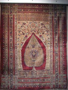 Iran National Carpet Museum, Tehran, Iran Silk Prayer Carpet by Amir Hossein Momeni