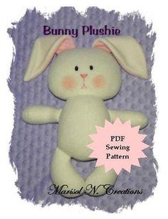 Bunny Plush PDF Sewing Pattern - Plushie   Craftsy