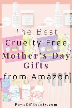 Still looking for a Mother's Day gift? Whether she needs some pampering, new skincare, or loves trying new makeup, Amazon has something for everyone. These are the best cruelty free Mother's Day gifts from Amazon!  | Cruelty Free Mother's Day Gifts on Amazon. Ethical bunny's beauty guide.