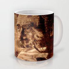 Charles Bukowski - wood - quote Mug by ARTito - $15.00