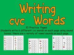 Writing cvc words- Kindergarten Word Work