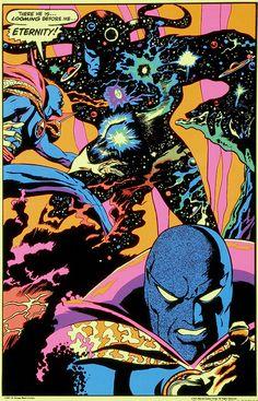 Doctor Strange and Eternity Black Light poster by Gene Colan by giantsizegeek, via Flickr