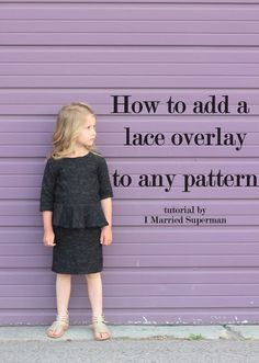 How to add lace to any pattern//tutorial