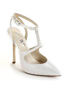 www.michaelkors.com, Michael Kors, Adrielle Snakeskin T-Strap Pumps  bride, bridal, wedding, wedding shoes, bridal shoes, luxury shoes, haute couture,  Lord and Taylor