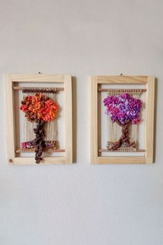 Telar Artístico Decorativo - Clases - Sol Telar Weaving Art, Tapestry Weaving, Loom Weaving, School Art Projects, Woven Wall Hanging, Box Frames, Make And Sell, Fiber Art, Macrame