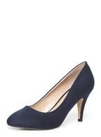 Womens Wide Fit Navy 'Claudia' Court Shoes- Navy
