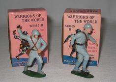 1960's Marx Warriors of the World 2 WWI French Soldiers MIB Lot#BT55