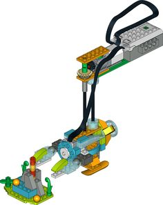 BATHYSCAPHE LEGO WeDo 2.0 | CityCAMP WeDo Course  This construction presents a model of a bathyscaphe, which is a free-diving, self-propelled deep-sea submersible, used for an underwater exploration. The model's propellor rotation speed depends on the distance measured by a sensor.