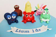 Då var ytterligare en tårta med Babblarna färdig, gjorde min första för bara några veckor sedan :) Idag är det Liam som ska firas och jag h... Barn, Christmas Ornaments, Holiday Decor, Children, Pregnancy, Ska, Decorations, Xmas Ornaments, Converted Barn