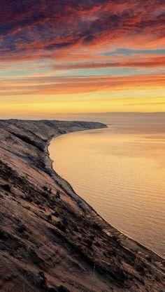 Coast, Sunset, Ocean